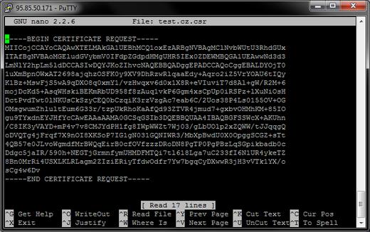 Installierung des Zertifikats auf Apache über SSH | Magazin über SSL ...