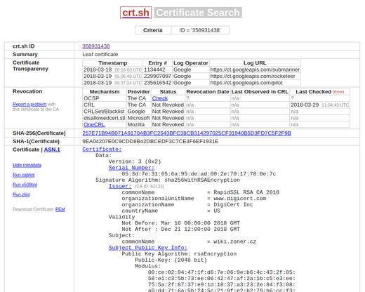 Certificate Transparency – Liste von allen ausgestellten ...