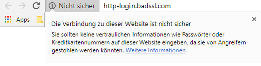 Neue Warnung in Chrome