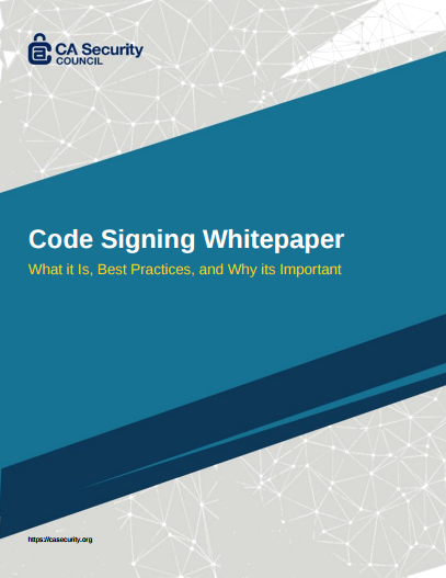 CASC Code Signing Whitepaper