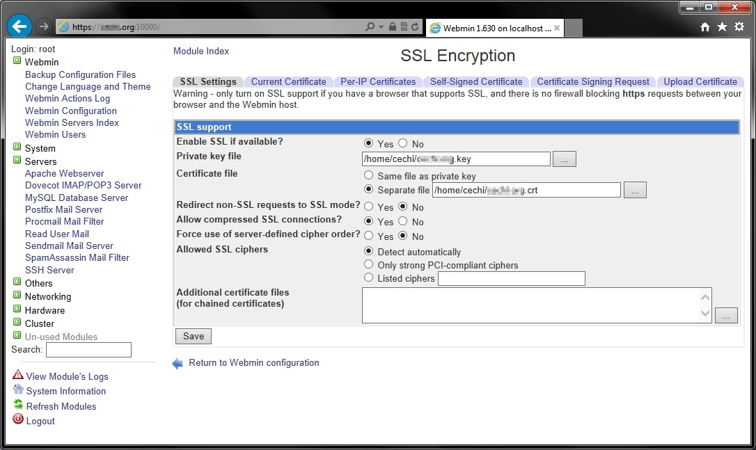 webmin-5.jpg | Magazin über SSL-Zertifikate und Zertifizierungsstellen